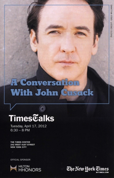 John Cusack at Stranahan Theater