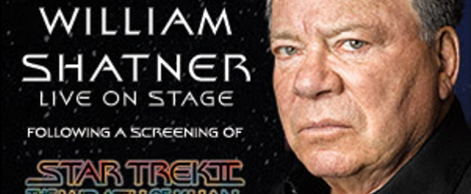 William Shatner Live After a Screening of Star Trek II: Wrath of Khan at Stranahan Theater
