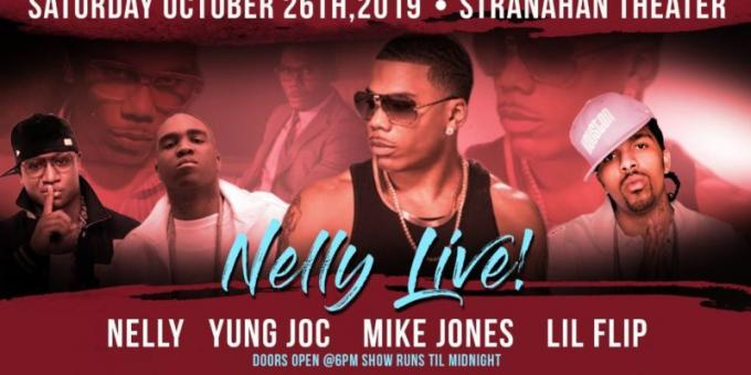 Nelly, Yung Joc, Mike Jones & Lil Flip at Stranahan Theater